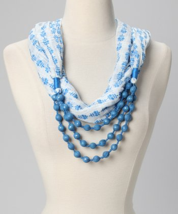 Azul Beaded Necklace Scarf