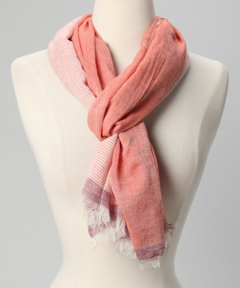 Papaya Stripe Scarf