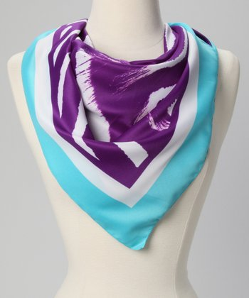 Mint & Purple Zebra Scarf