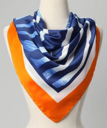 Orange & Blue Zebra Scarf