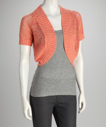 Peach Party Knit Shrug