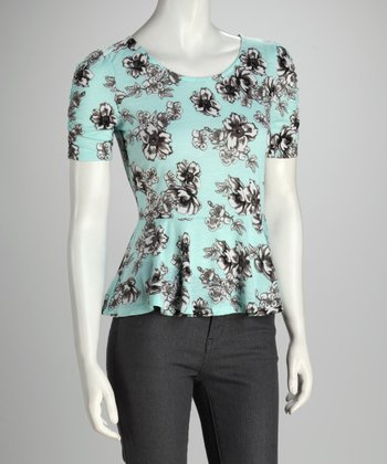 Sea Spray Floral Peplum Top