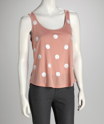 Antique Pink Polka Dot Tank