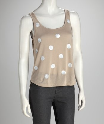 Light Granite Polka Dot Tank