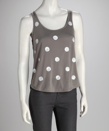 Muted Clay Polka Dot Tank
