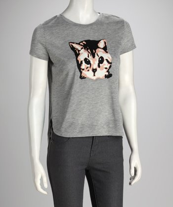 Chinchilla Gray Cat Hi-Low Tee