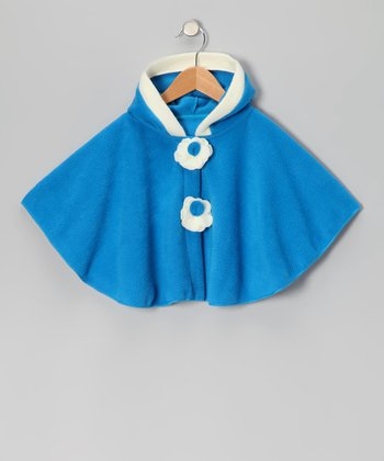 Turquoise Fleece Cape - Toddler & Girls