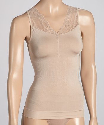 Nude Shirred Lace Camisole - Women