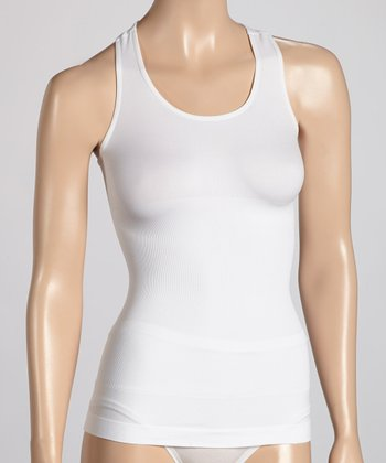 White Racerback Shaper Tank - Women
