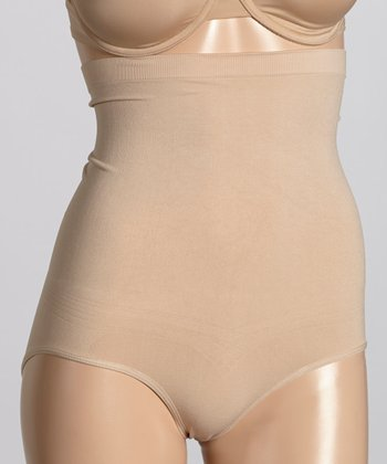 Nude High-Waisted Shaper Briefs - Women