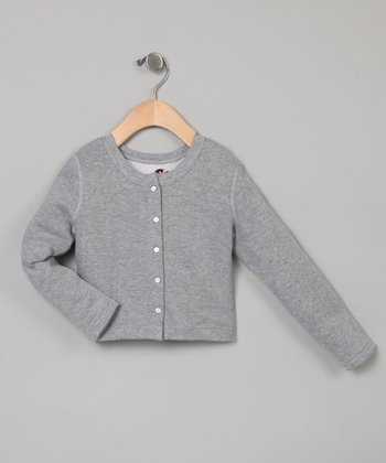 Gray Cropped Cardigan - Toddler & Girls