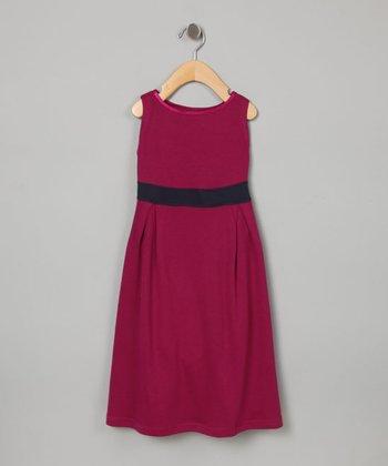 Raspberry Party Dress - Toddler & Girls