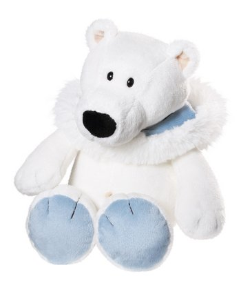 Sitting Polar Bear Plush Toy