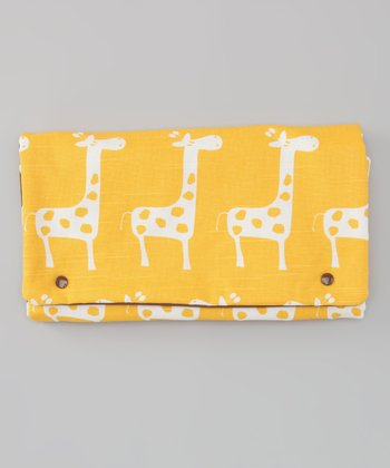 Yellow Giraffe Diaper Clutch