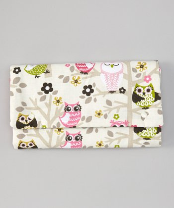Owls in Pink Diaper Clutch