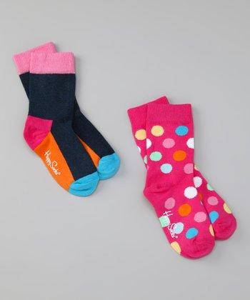 Happy Socks Pink Polka Dot Socks Set