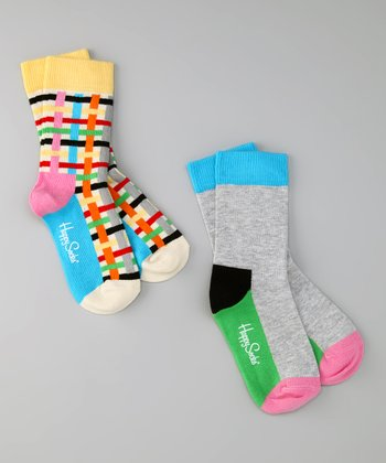 Happy Socks Bright Plaid Socks Set