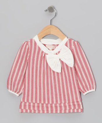 Pink Stripe Bow Tunic - Infant