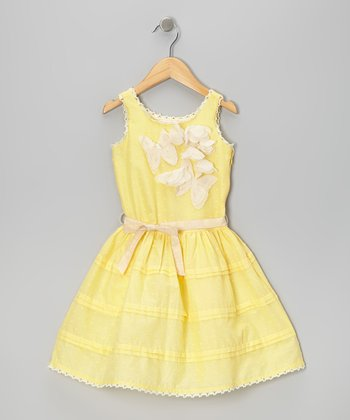 Yellow Butterfly Dress - Toddler & Girls