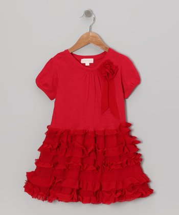 Red Ruffle Dress - Infant, Toddler & Girls