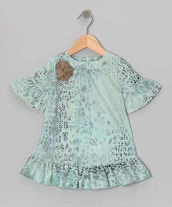 Light Blue Diva Swing Dress - Girls