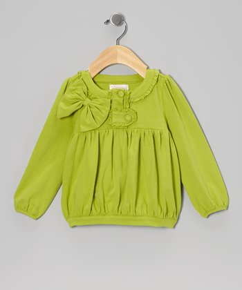 Green Bow Blouse - Infant