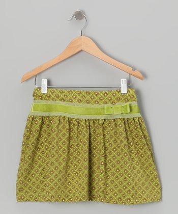 Green Flower Skirt - Infant & Girls