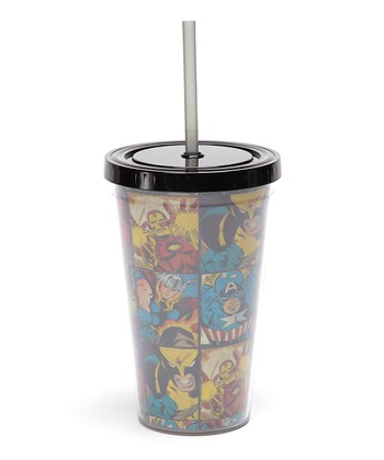 Character Grid Cold Sipper Cup
