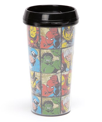 Character Grid Travel Mug