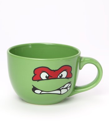 Green Teenage Mutant Ninja Turtles Raphael Soup Mug