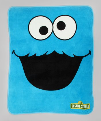 Cookie Monster Plush Throw