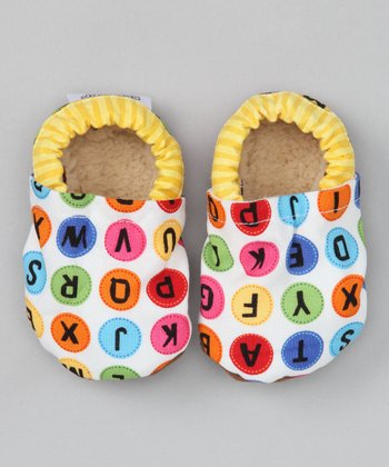 White Alphabet Booties