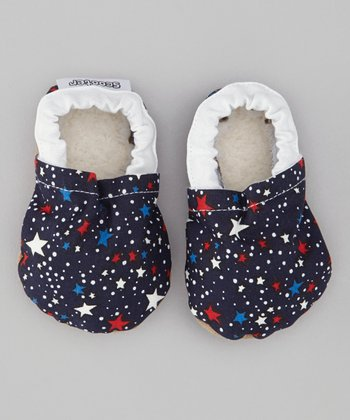 Blue & White Patriotic Star Bootie
