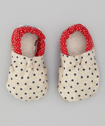 Blue Star & Red Polka Dot Bootie