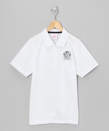 Golf Ball White Tech Polo - Boys