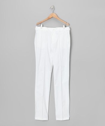 Golf Ball White Tech Pants - Boys