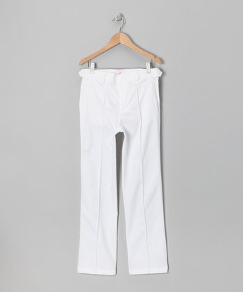 Golf Ball White Tech Pants- Boys