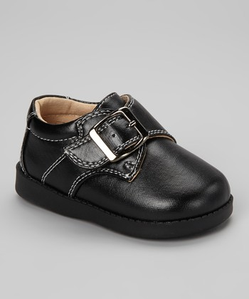 Black Buckle Squeaker Shoe