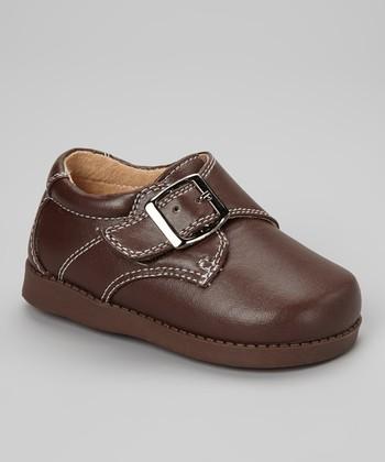 Sneak A' Roos Brown Buckle Squeaker Shoe