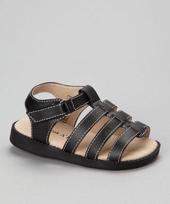 Sneak A' Roos Black Strap Squeaker Sandal