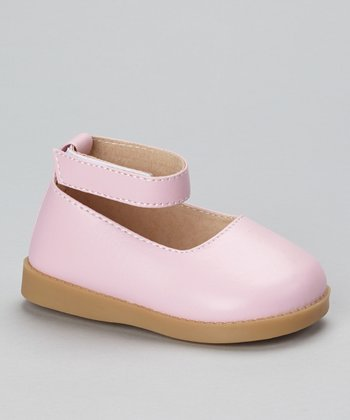 Sneak A' Roos Pink Squeaker Ankle Strap Flat
