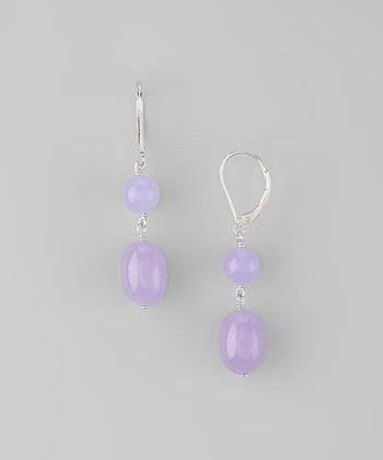 Lavender Jade Double Nugget Earrings