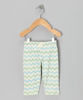 Blue & Green Chevron Pants