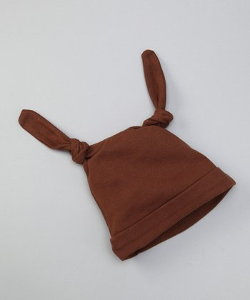 Chocolate Double-Knot Beanie