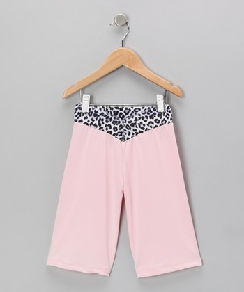 Pink Leopard Velvet Capri Pants - Toddler & Girls