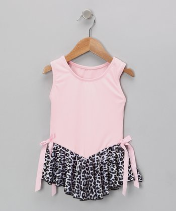 Pink Cheetah Velvet Skirted Leotard - Toddler & Girls
