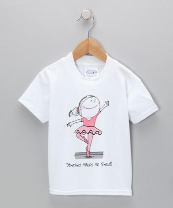 White Ballerina Tee - Toddler & Girls