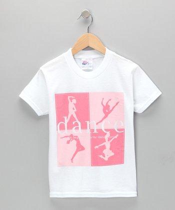 White 'Dance' Ballerina Tee - Girls & Women
