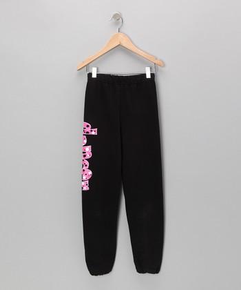 Dance World Bazaar Black 'Dancer' Bubble Sweatpants - Girls & Women
