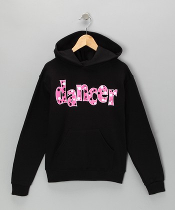 Black 'Dancer' Bubble Hoodie - Girls & Women
